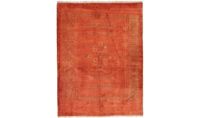 morgenland Wollteppich »Gabbeh Teppich handgeknüpft rost«, rechteckig, 18 mm Höhe,... kaufen