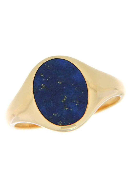 Firetti Goldring Glanz massiv Ringkopf blau | Schmuck > Ringe > Goldringe | Blau | Firetti