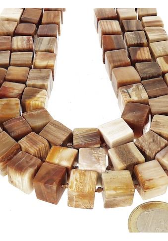 Adelia´s Kette ohne Anhänger »Versteinertes Holz Edelstein Stein Strang ohne Schließe... kaufen