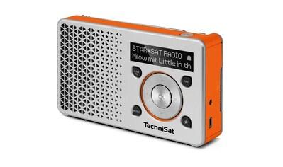 TechniSat Digitalradio (DAB+) »DIGITRADIO 1 silber/orange«, ( Digitalradio (DAB+) 1 W), Made in Germany kaufen