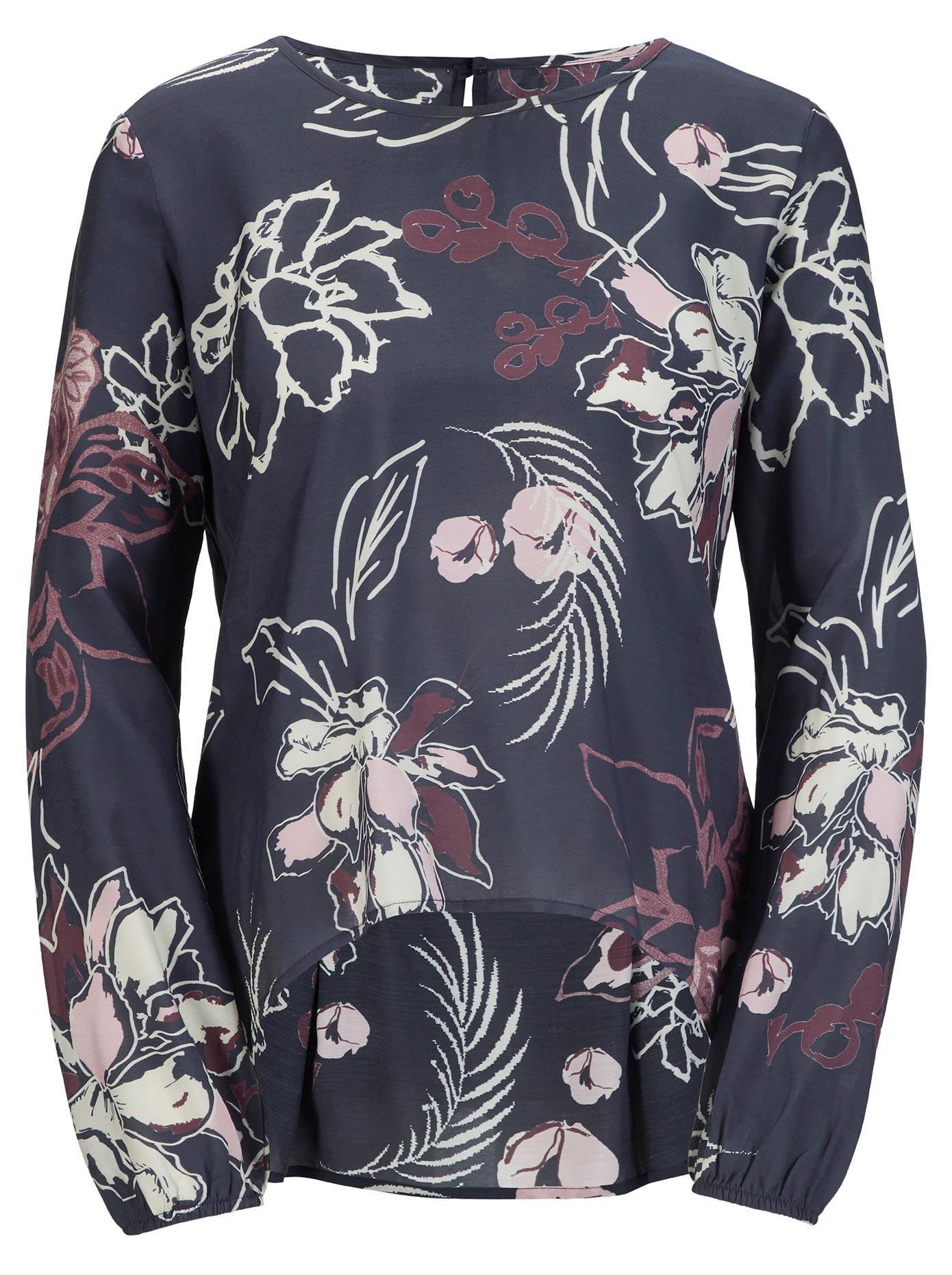 création L Bluse in hochwertiger floral bedruckter Viskose-Seide-Qualität