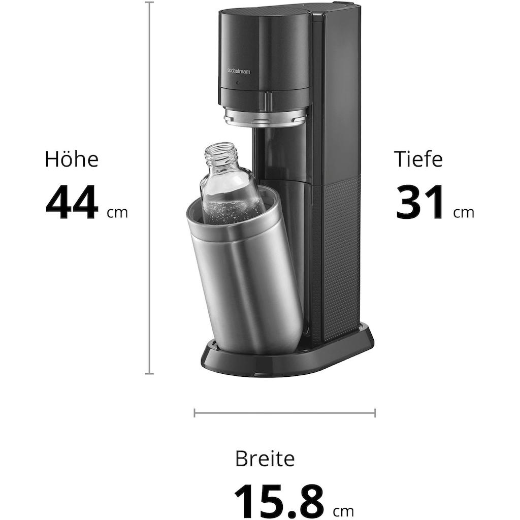 SodaStream Wassersprudler »DUO«, (Set, 6 tlg.), mit CO2-Zylinder, 3x 1L Glasflasche und 1x 1L spülmaschinenfeste Kunststoff-Flasche