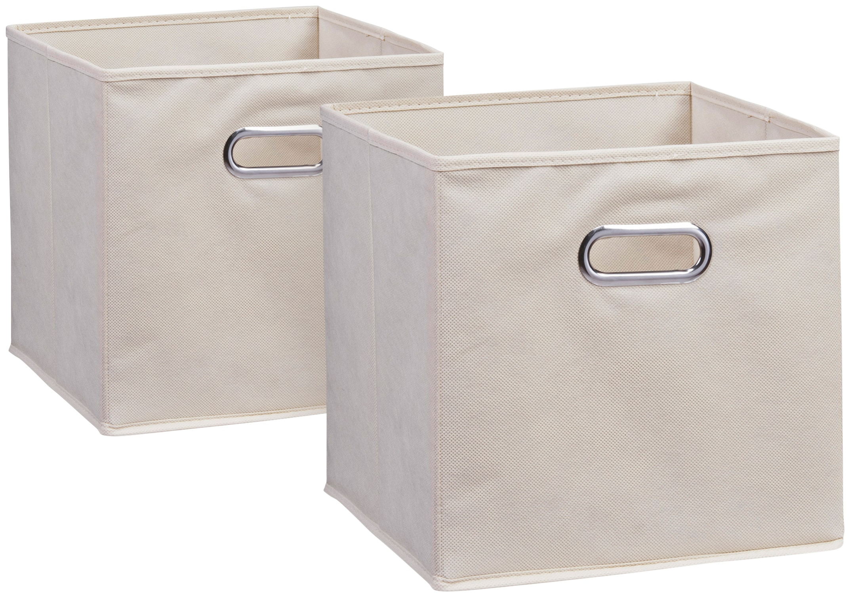Zeller Present Aufbewahrungsbox, (Set, 2 St.), 28 x cm beige Kleideraufbewahrung Aufbewahrung Ordnung Wohnaccessoires Aufbewahrungsbox