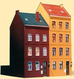 Auhagen Modelleisenbahn-Gebäude Stadthäuser Schmidtstraße 21/23, Made in Germany bunt Kinder Schienen Zubehör Modelleisenbahnen Autos, Eisenbahn Modellbau