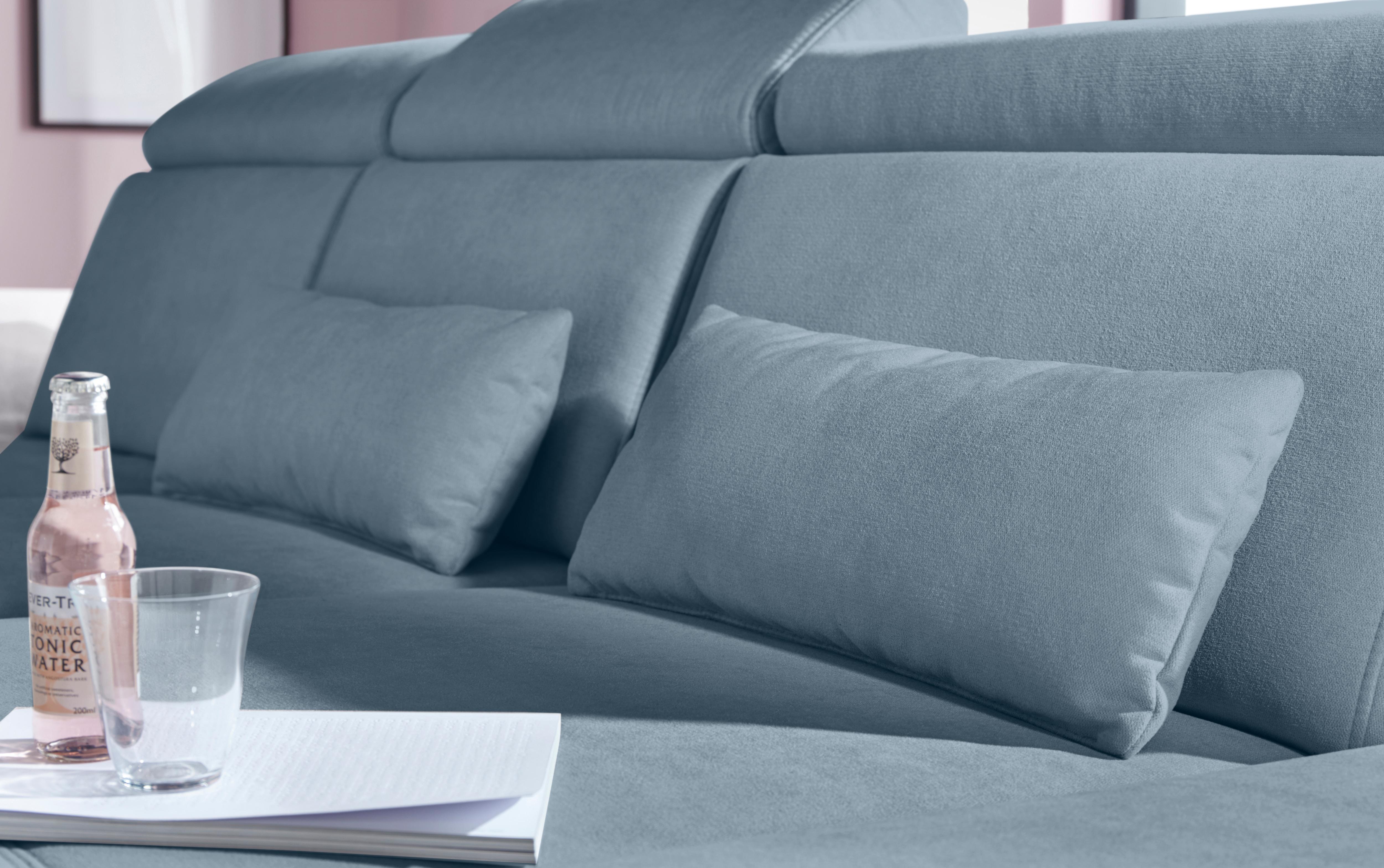 sit&more Polsterauflage (Set) blau Dekokissen uni Kissen Polsterauflagen