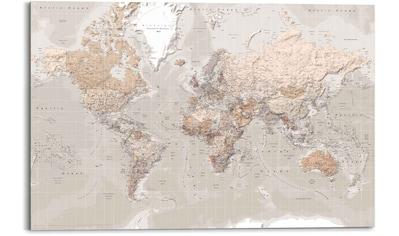 Reinders! Wandbild »Wandbild Weltkarte Natürlicher Farbton - Erdfarben - Detailliert«,... kaufen