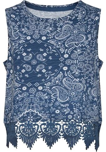 Pepe Jeans Spitzenshirt »Ashley«, kurze Form mit Spitzensaum kaufen