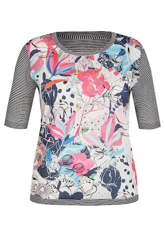 Rabe Shirt mit Strukturmix und floralem Design kaufen