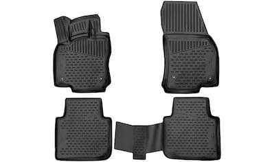 WALSER Passform-Fußmatten »XTR«, VW, Tiguan, Geländewagen, (4 St., 2 Vordermatten, 2... kaufen