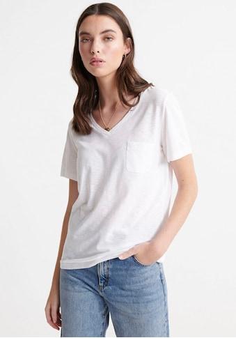 Superdry T-Shirt »Essential T-Shirt Aus Bio-Baumwolle Mit V-Ausschnitt« kaufen