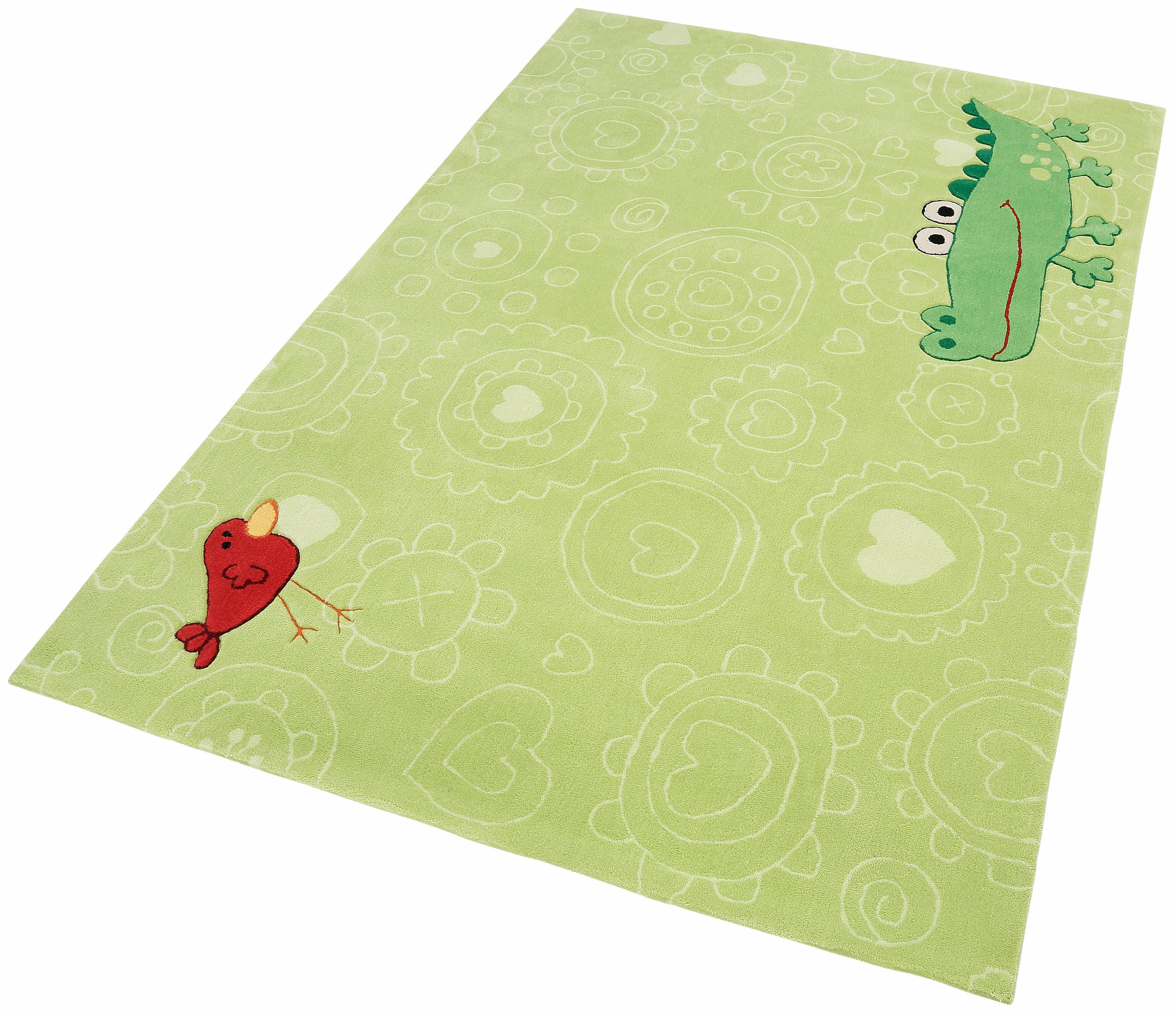 Kinderteppich Happy Zoo Crocodile Sigikid rechteckig Höhe 10 mm handgetuftet