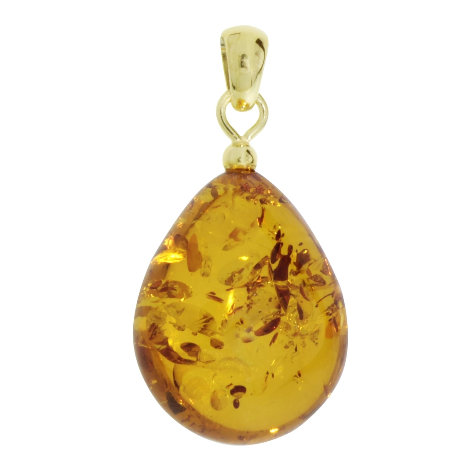 OSTSEE-SCHMUCK Kettenanhänger Tropfen ca 22 mm lang - Gold 333/000 Bernstein | Schmuck > Halsketten > Goldketten | Ostsee-Schmuck
