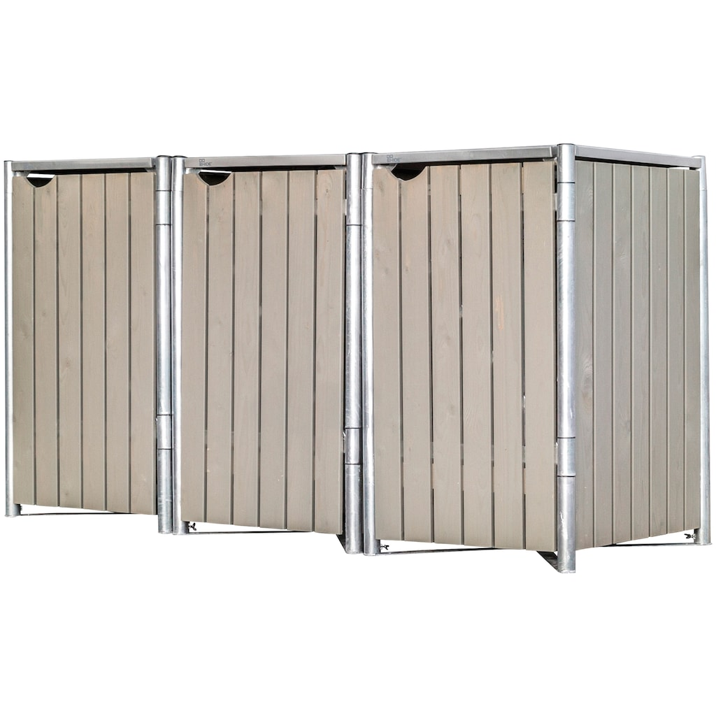 Hide Mülltonnenbox, für 3 x 120 l, grauxnatur