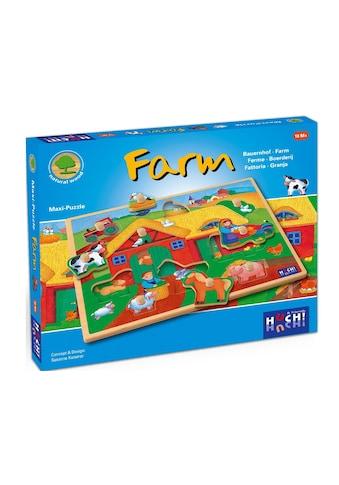 Huch! Spiel »Wooden Line Farm«, 9 Maxi-Teile, FSC®-Holz aus gewissenhaft... kaufen