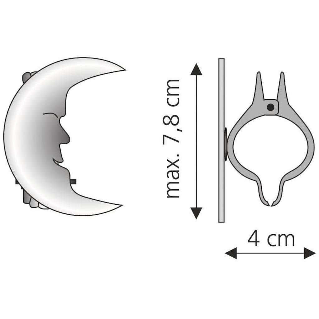 Liedeco Dekoklammer »Mond«, (Packung, 2 St.), für Gardinen, Vorhänge