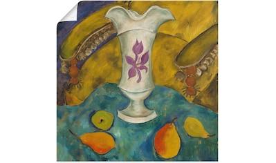 Artland Wandbild »Stillleben mit weißer Vase und Früchten« kaufen