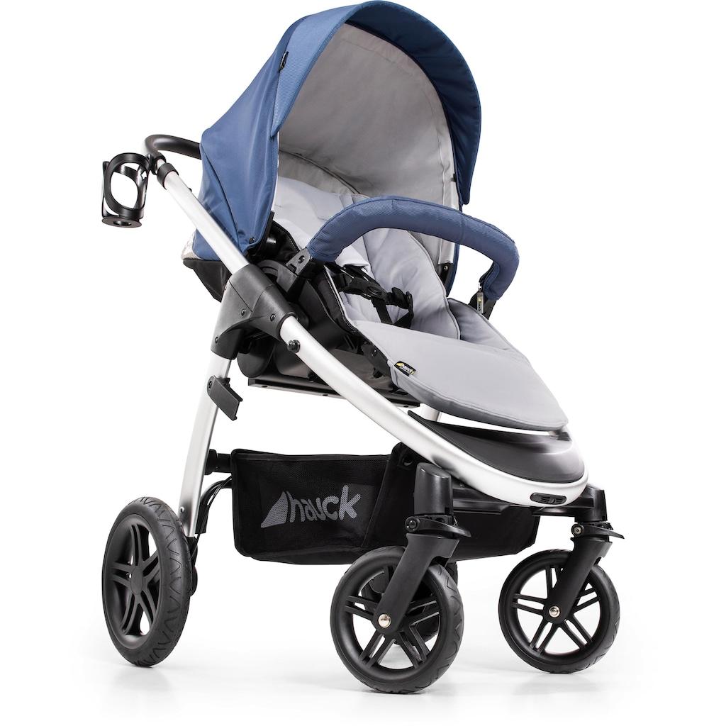 Hauck Sportbuggy »Saturn R, denim silver«, inkl. Babywanne und Beindecke; Kinderwagen, Buggy, Sportwagen, Kinder-Buggy, Kinderbuggy, Sport-Kinderwagen