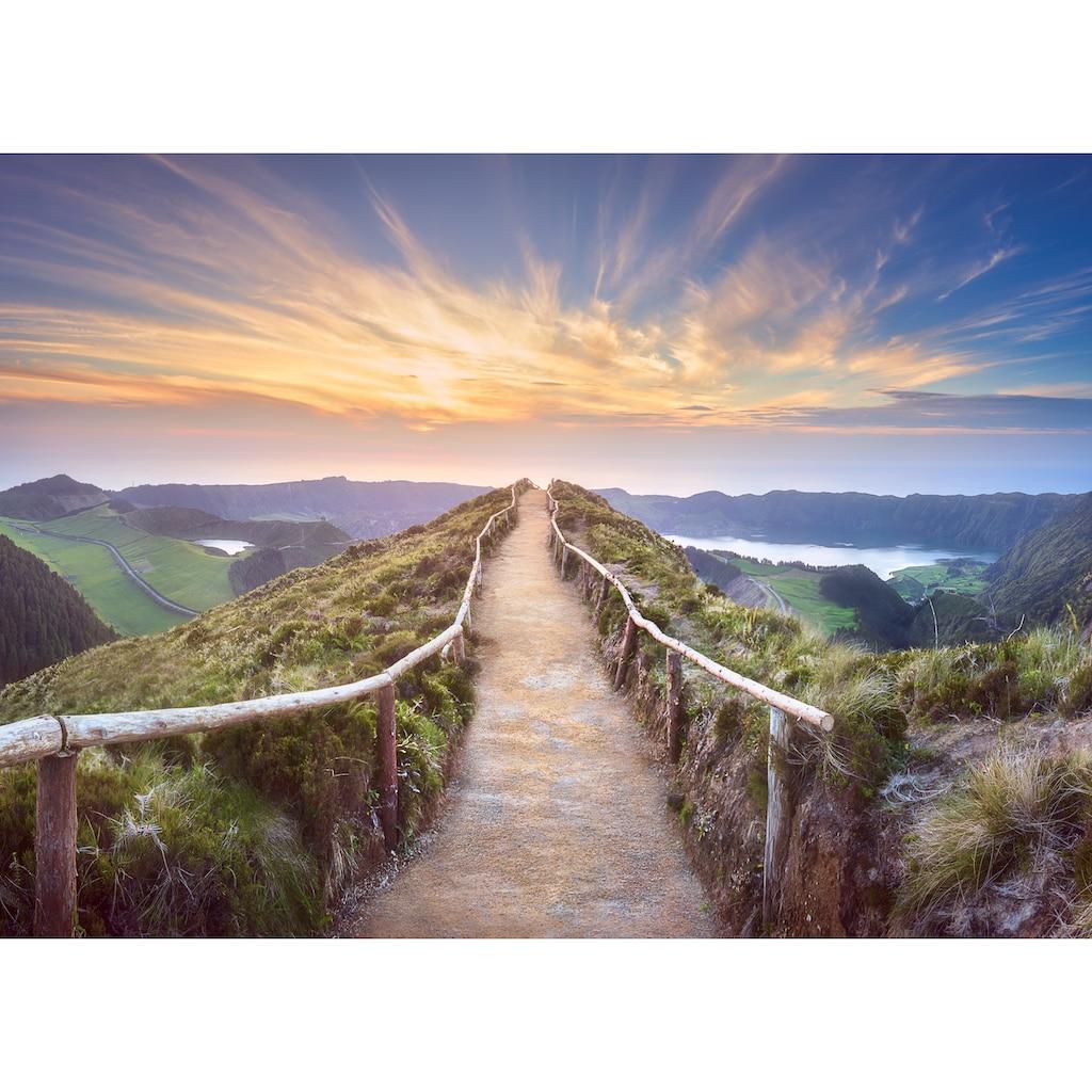 Papermoon Fototapete »Mountain View Delgada Ponta«