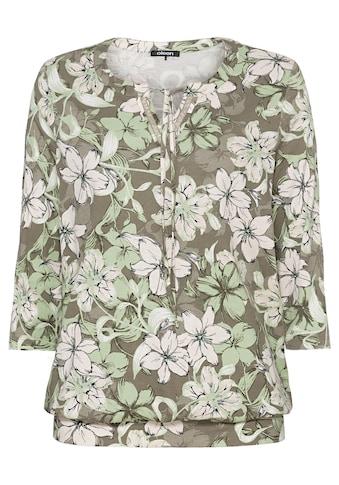 Olsen Rundhalsshirt, mit Bindebändern am Ausschnitt kaufen