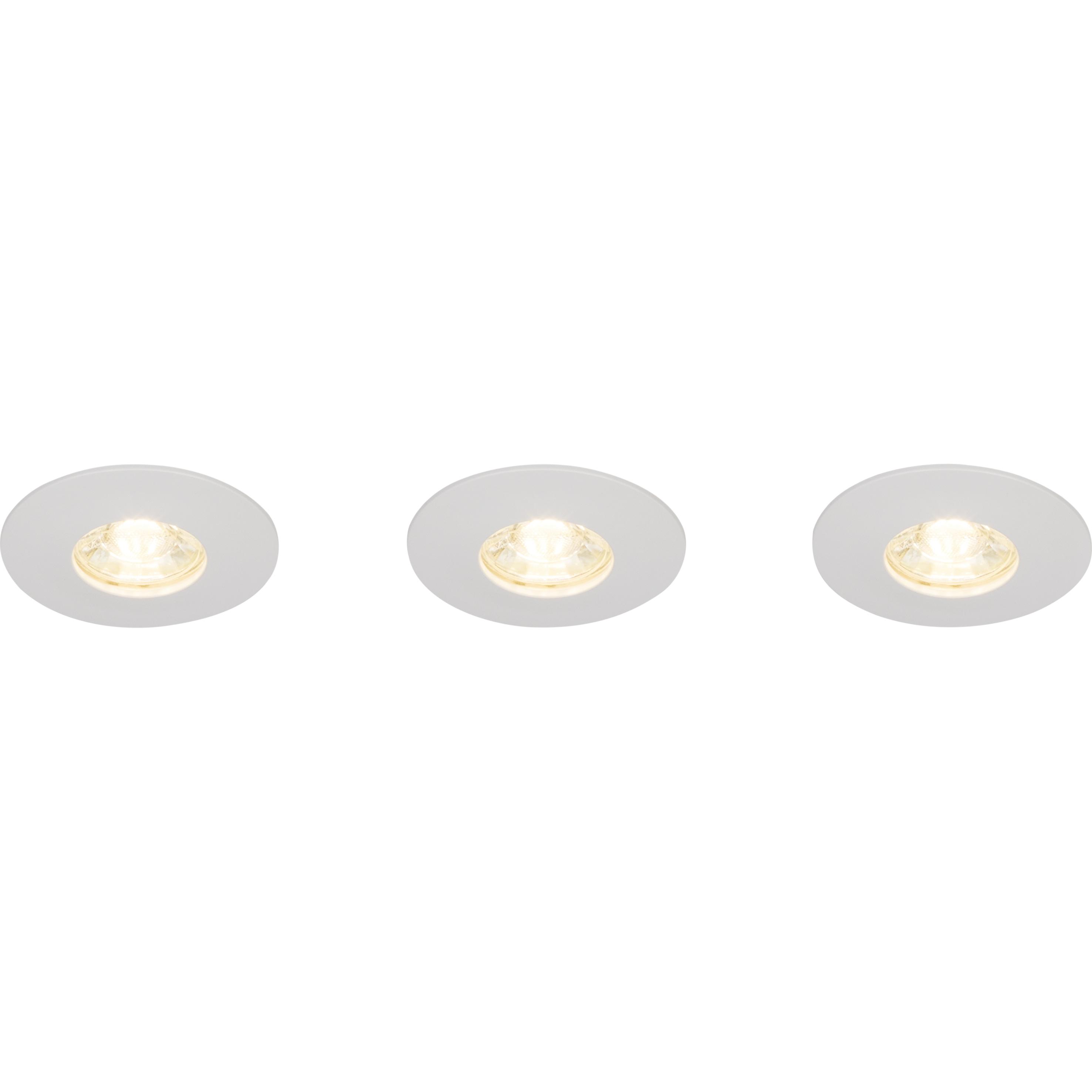 Brilliant Leuchten Nodus LED Einbauleuchtenset: 3 Stück fest weiß/warmweiß