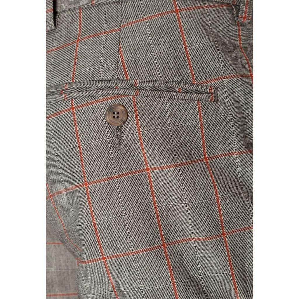 East Club London Anzughose mit schickem Karomuster