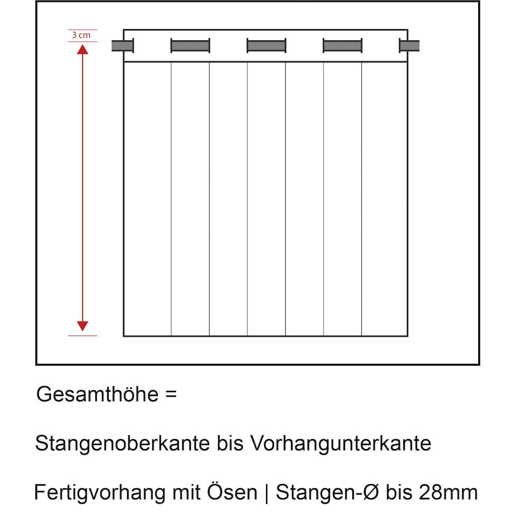Neutex for you! Vorhang nach Maß »ALLURE-NXFR148«, Ösenschal mit Metallösen, schwer entflammbar, B1