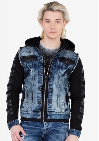 Cipo & Baxx Sweatjacke, im coolen Jeans-Look kaufen