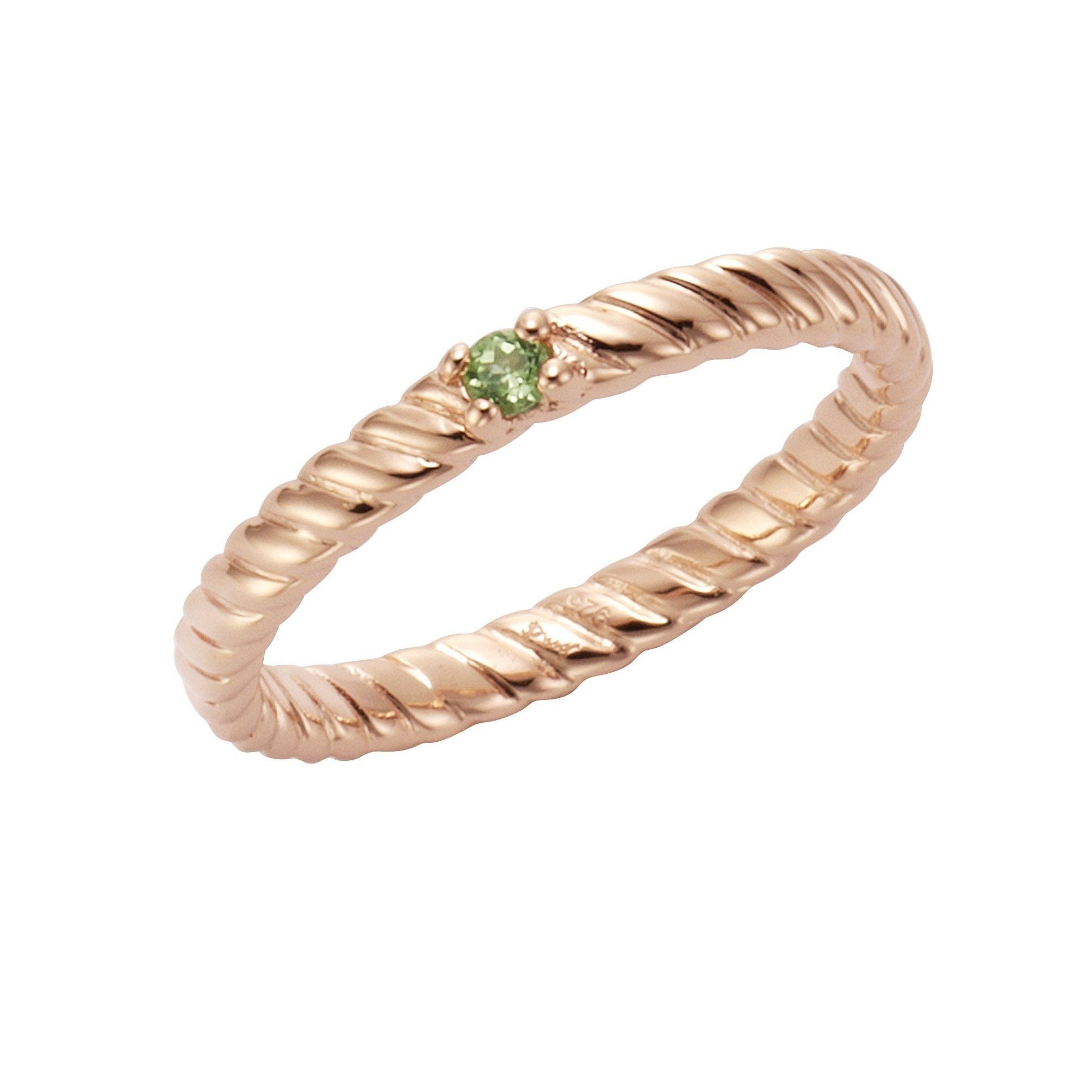 Jamelli Ring 925/- Sterling Silber rotvergoldet Peridot   Schmuck > Ringe > Silberringe   Rot   Jamelli