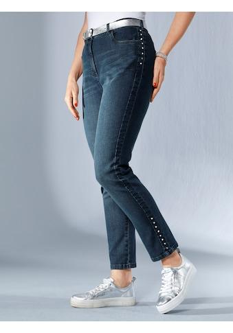 MIAMODA Jeans seitlich mit Strasssteinen besetzt kaufen