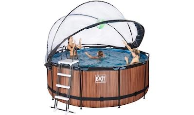 EXIT Framepool, (Set), ØxH: 360x122 cm, mit Sonnendach, Sandfilter kaufen