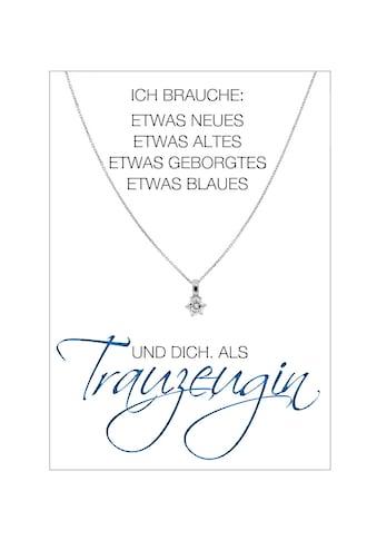 HERZ - KARTE Silberkette »Trauzeugin« kaufen