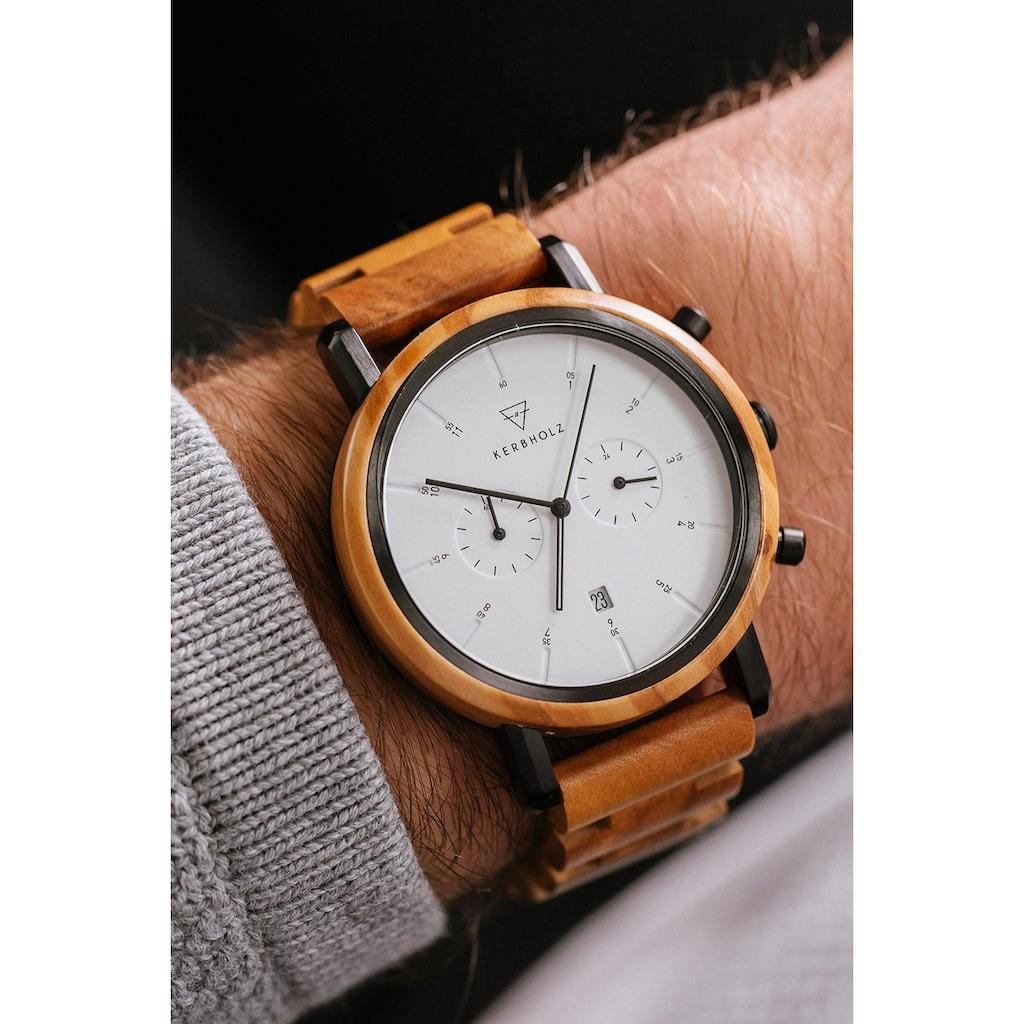 KERBHOLZ Chronograph »Johann Olivewood«