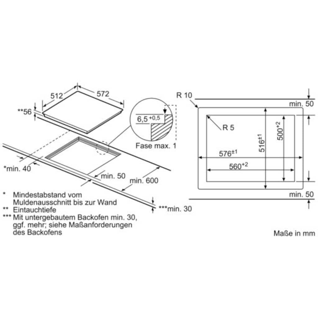 SIEMENS Flex-Induktions-Kochfeld, EX601JYW1E, mit cookConnect-System