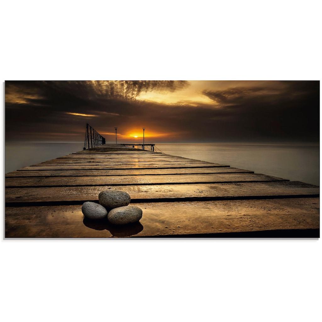 Artland Glasbild »Sonnenaufgang am Schwarzen Meer«, Sonnenaufgang & -untergang, (1 St.)