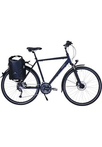 HAWK Bikes Trekkingrad »HAWK Trekking Gent Deluxe Plus Ocean Blue«, 27 Gang, Shimano,... kaufen