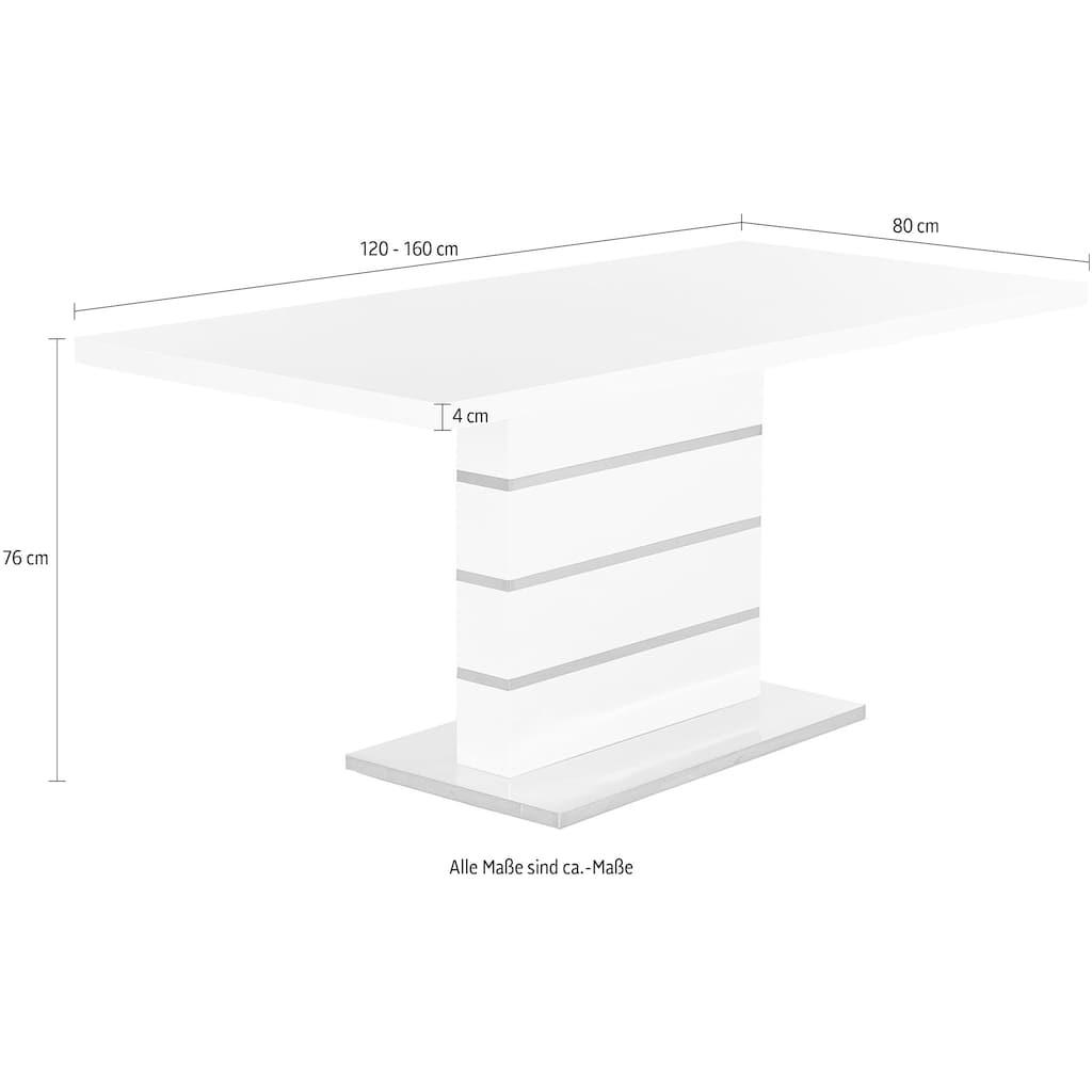 Jockenhöfer Gruppe Esstisch, Breite 120-160 cm