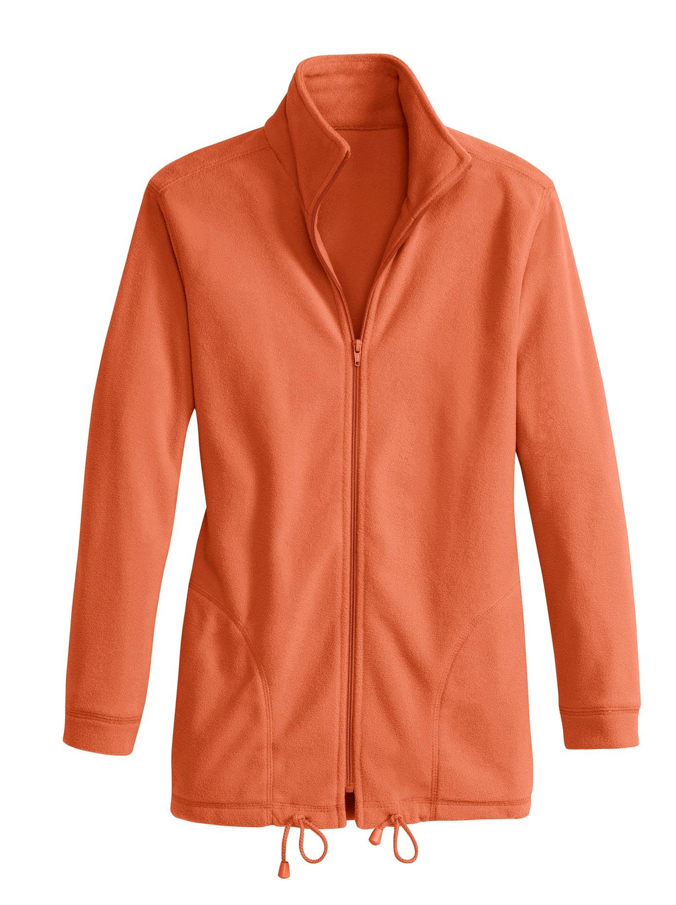 Casual Looks Fleece-Jacke orange Damen Fleecejacken Jacken