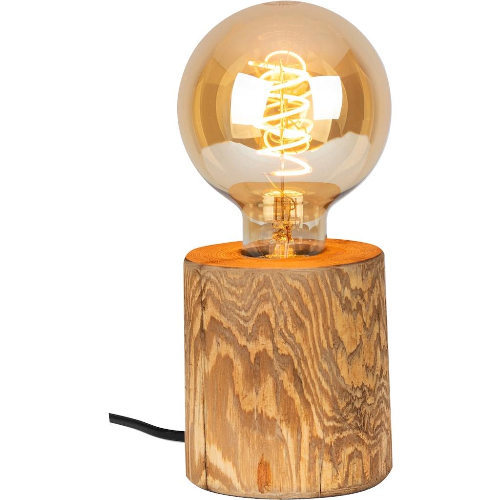 OTTO products Tischleuchte »Tomma«, E27, 1 St., Naturprodukt mit FSC®-Zertifikat aus Massivholz, Leuchtmittel inklusive, Made in Europe, Schnurschalter