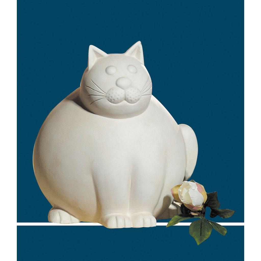GILDE Dekofigur »Katze Molli, creme-weiß«, Dekoobjekt, Tierfigur, Höhe 30 cm, aus Keramik, Wohnzimmer