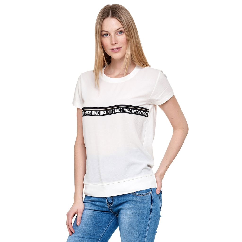 Decay T-Shirt, mi tollem Streifen-Print