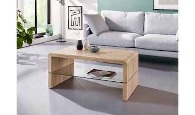 INOSIGN Couchtisch »Flavio«, mit einem Glasablageboden, im modernen Design, in schöner Holzoptik, verschiedene Größen kaufen