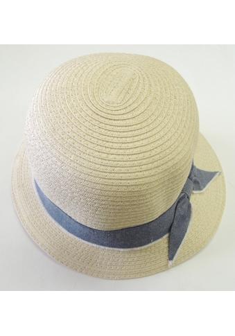 Chaplino Strohhut, mit schickem Stoffhutband kaufen