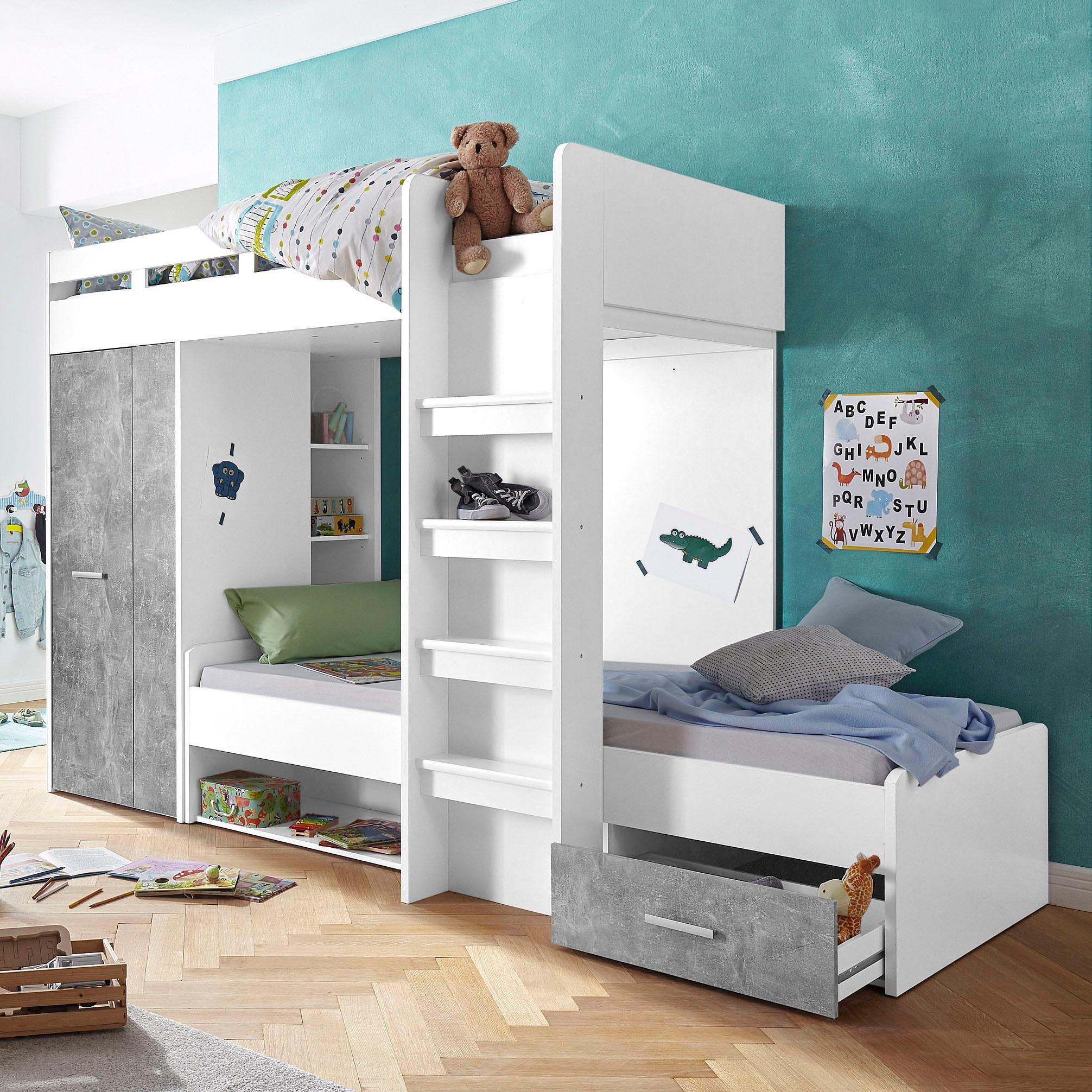 Etagenbett Kinder Mit Schrank : Kinderhochbetten online auf rechnung kaufen baur