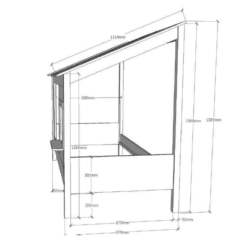 Vipack Hausbett, wahlweise mit Bettschubkasten