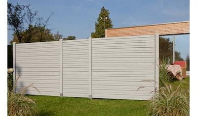 Kiehn - Holz Set: Dichtzaun 3 - tlg. BxH: 486x180 cm, mit 4 Pfosten kaufen