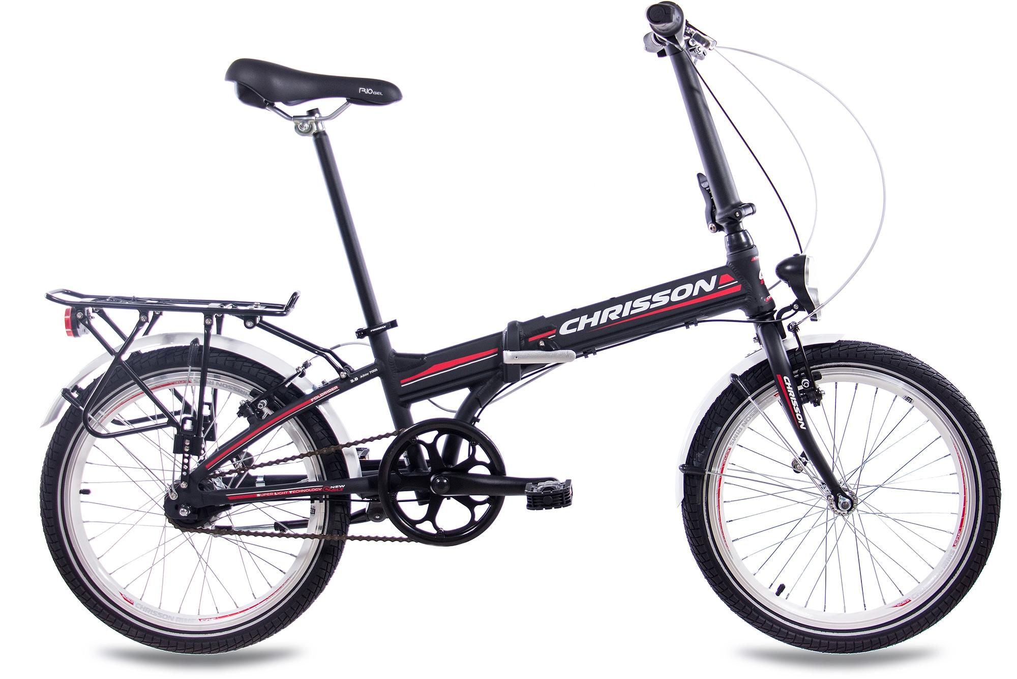 Chrisson Faltrad Foldrider 3.0, 7 Gang, Shimano, Nexus Gang Schaltwerk, Nabenschaltung, (1 tlg.) schwarz Falträder Klappräder Fahrräder Zubehör Fahrrad