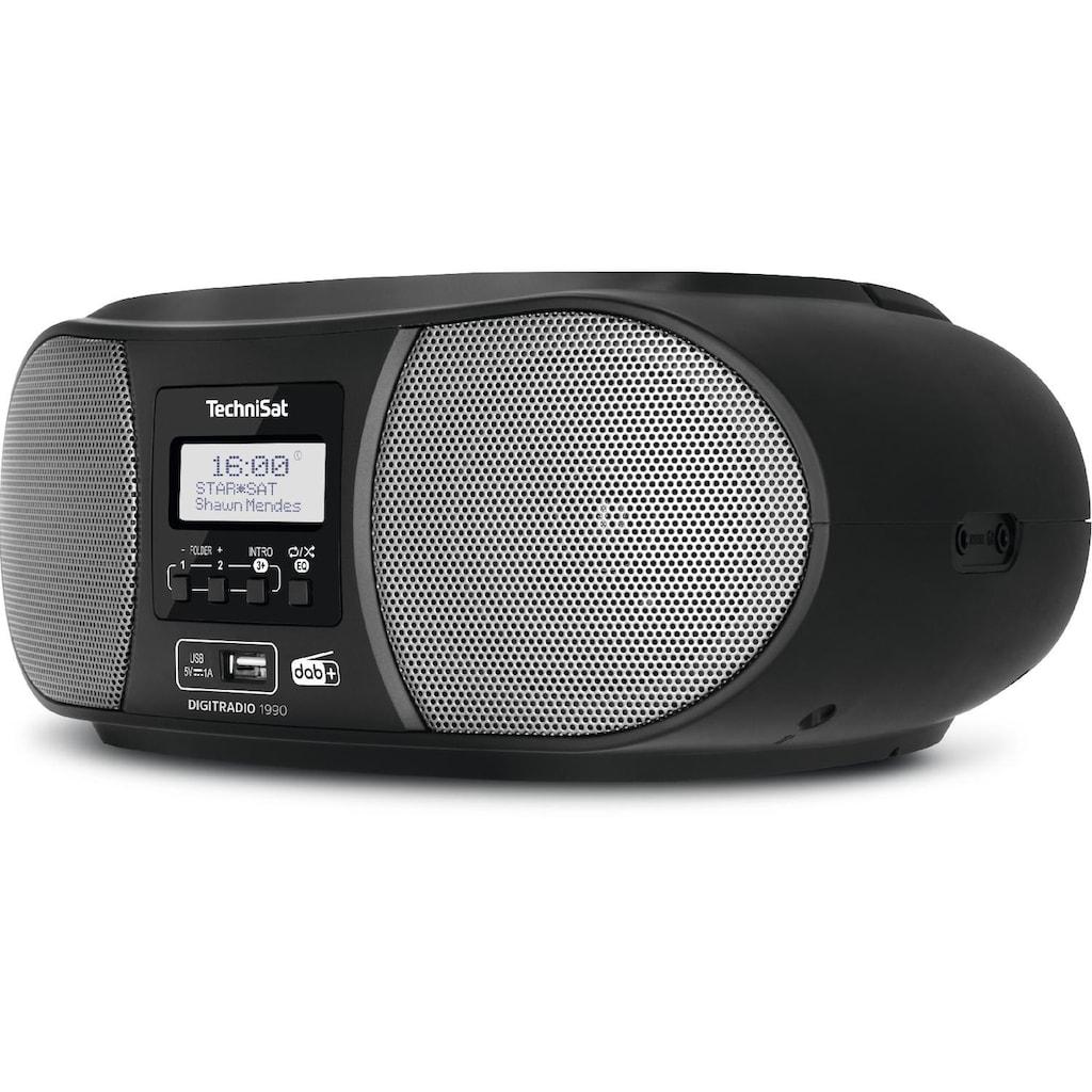 TechniSat Stereo-Boombox mit DAB+/UKW-Radio, CD-Player und Bluetooth