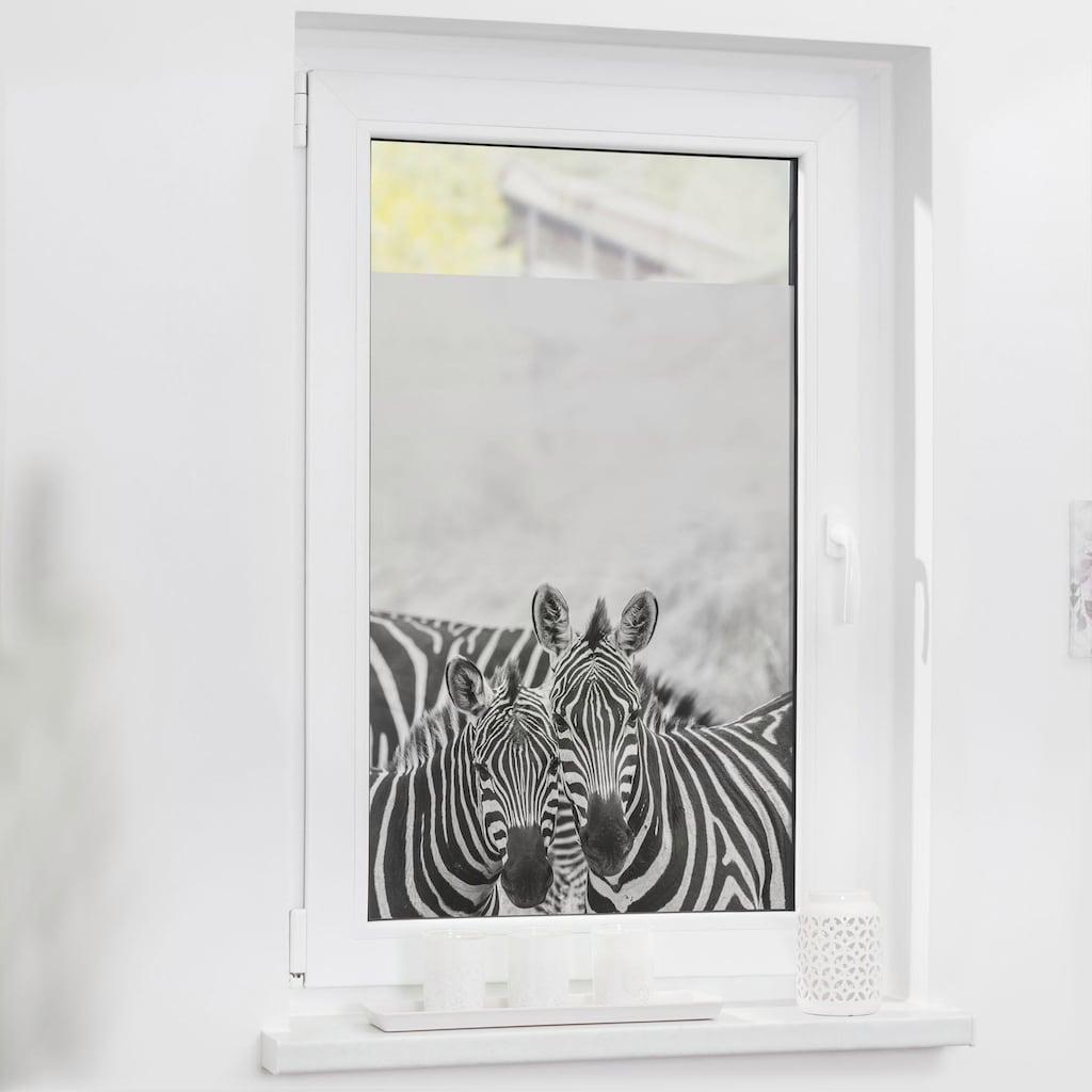 LICHTBLICK ORIGINAL Fensterfolie »Zebra«, 1 St., blickdicht, strukturiertKlebepunkte, selbstklebend, Sichtschutz
