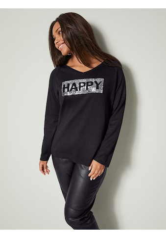 Angel of Style by Happy Size Pullover mit Paillettenmotiv kaufen