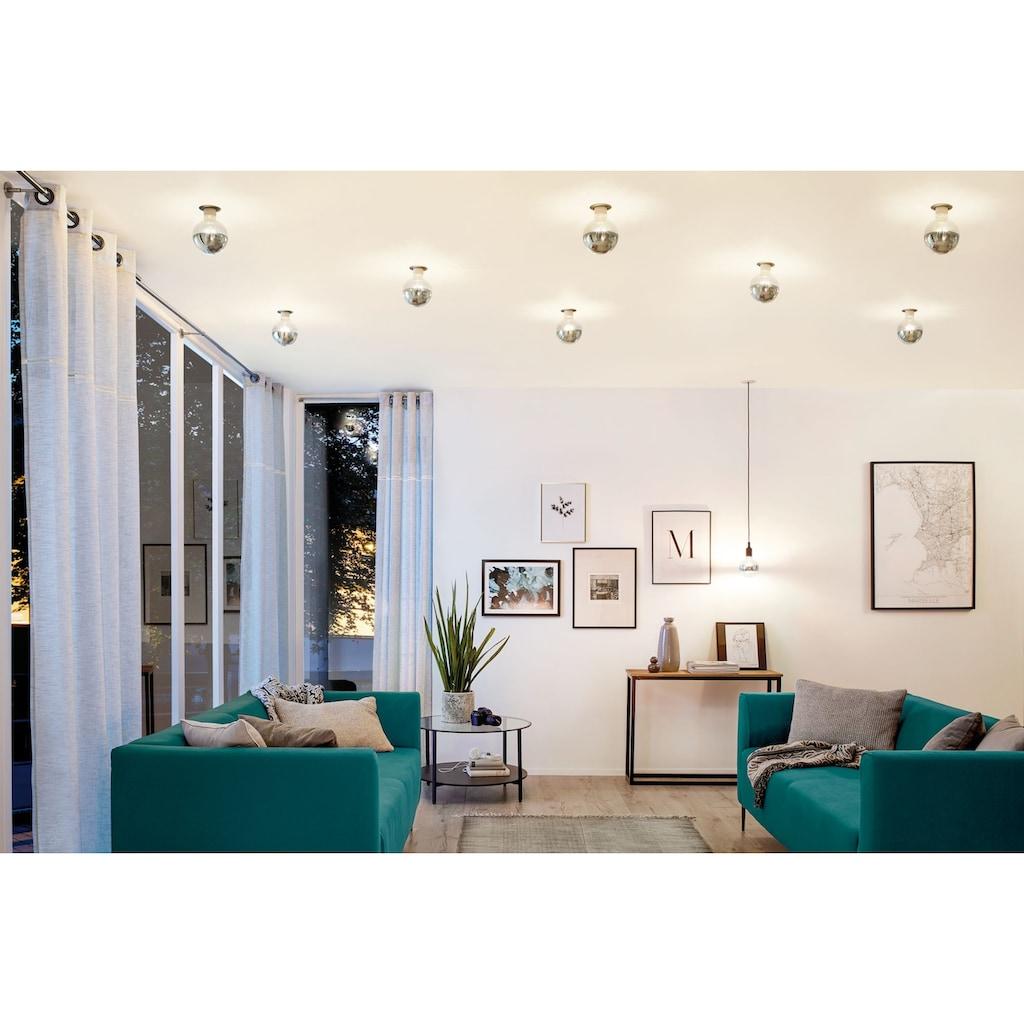 Paulmann LED-Leuchtmittel »Globe 6,5 Watt E27 Kopfspiegel Silber Warmweiß«, 1 St., Warmweiß